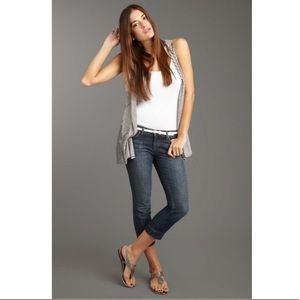 Joe's Jeans Slit Hem Kicker Cropped Capri Jeans 27
